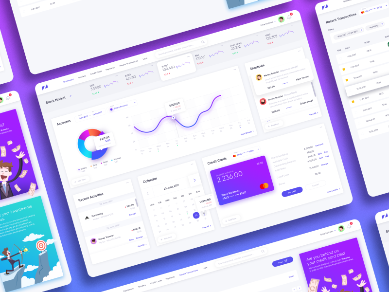 Internet Banking bank wallet ux ui psd freebie finance dashboard chart analytics design web