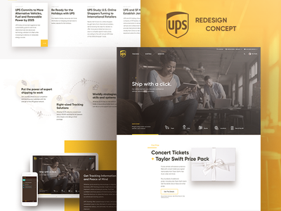UPS Redesign Concept design web ux ui delivery shipping ups redesign homepage landing