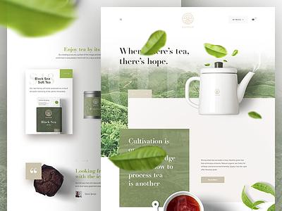 Caykur - Redesign Landing Page commerce website web ux ui coffee redesign landing homepage design tea