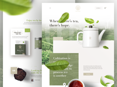 Caykur - Redesign Landing Page commerce website web ux ui coffee redesign landing homepage design tea