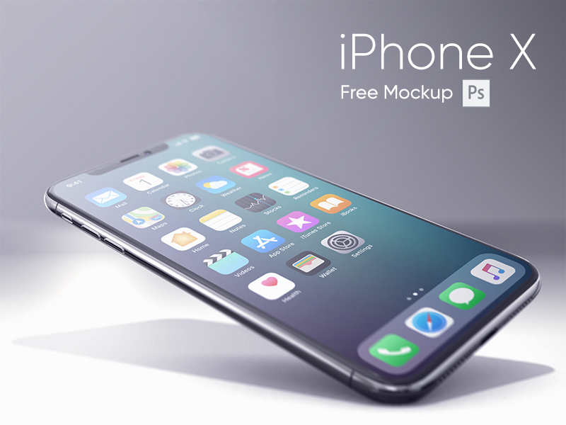 iPhone X Realistic Mockup free realistic iphonex new mockup iphone psd freebie