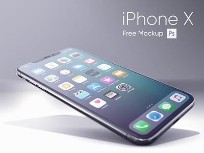 iPhone X Realistic Mockup free realistic iphonex new mockup iphone psd freebie