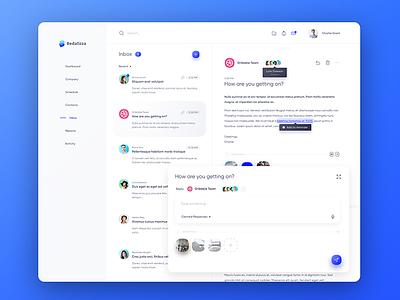 CRM Inbox - Light Theme web design light clean inbox mail crm dashboard ux ui