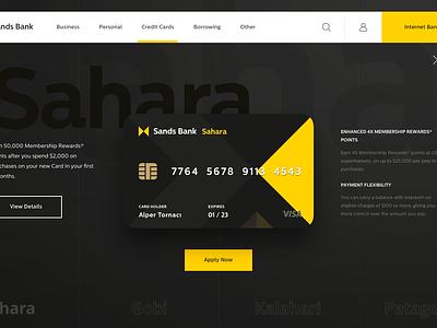Bank - Credit Card Menu Animation dashboard animation app interaction concept landing  page ux landing bank design finance web ui