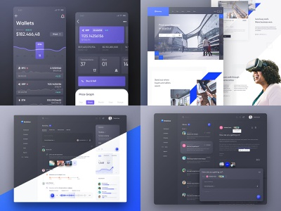2018 landing website dark black design web android ios ux ui dashboard app best trends 2018