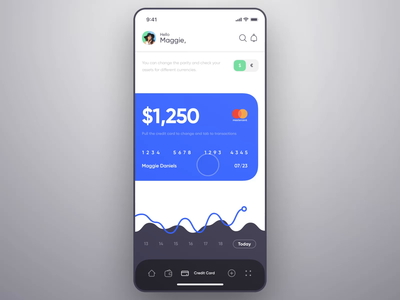 Mobile Banking - Credit Card (Animated) video animation chart money android mobile bank finance dashboard ios design app ux ui