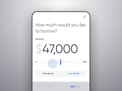 Mobile Banking - Loan (Animated) animation money android mobile bank finance dashboard ios design app ux ui