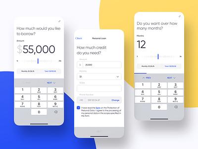 Mobile Banking - Loan chart mobile bank finance dashboard ios design app ux ui