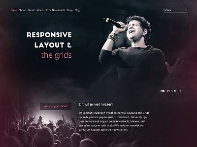 Imaginary Band Web Design ratio golden golden-ratio design music rock website webdesign