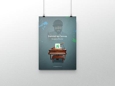 Gregory Porter Poster mock-up music blue jazzy design poster