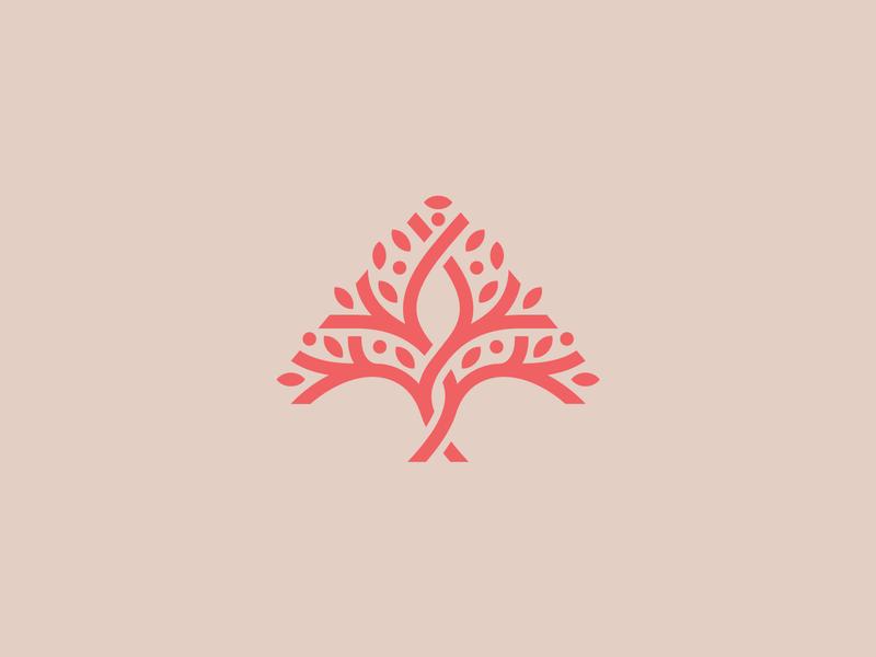 A tree logo growth organic fruit leaves nature branding a logo tree of life tree
