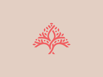 A tree logo growth organic fruit leaves nature branding a logo tree of life tree