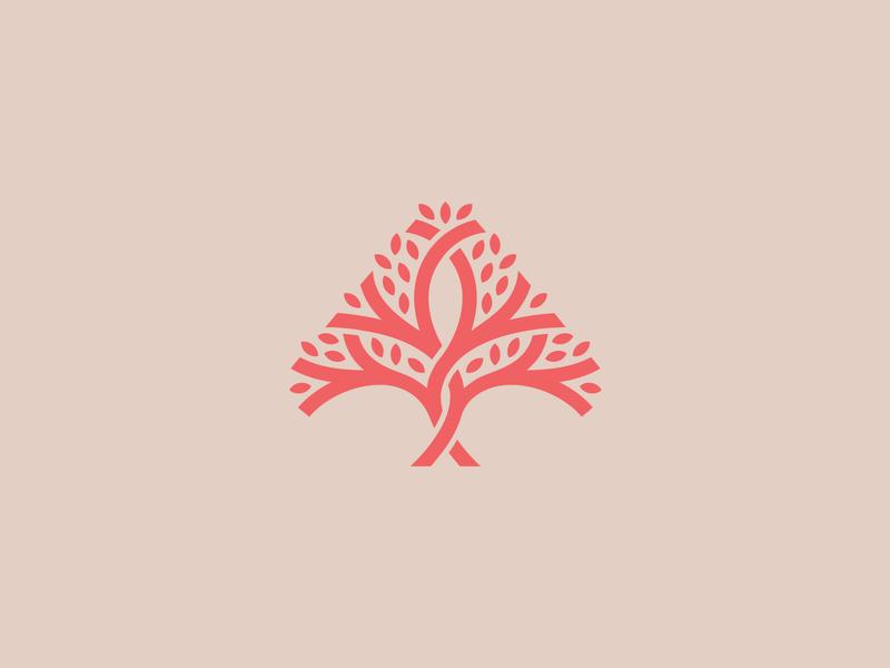 A tree logo 2 minimal geometric simple pattern leaves identity a arrow development growth wood nature tree branding mark logo