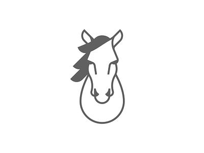 Horse Head Mark icon identity brand identity mustang brand minimal mark horse logo head horse
