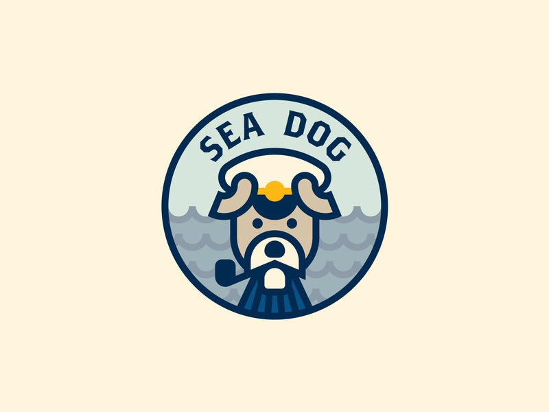 Sea Dog coast naval maritime sea sailor captain mutt identity branding logo icon logomark seadog sea dog