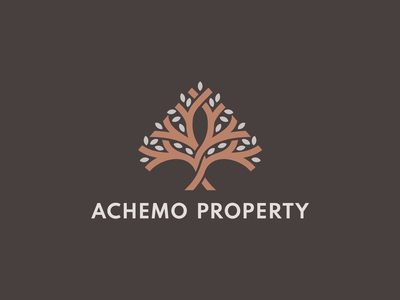 Achemo Property investment nature tree a mark property development real estate logo