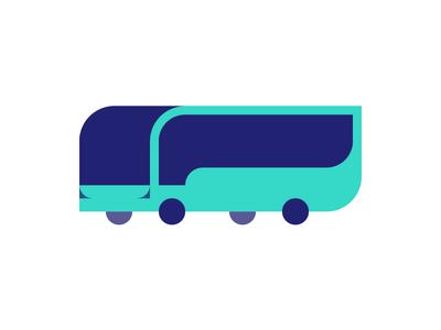 Geo Bus branding icon transport mark logo bus coach