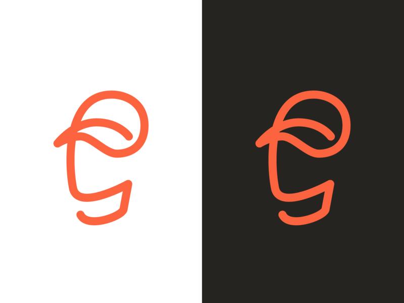 G is for Giants logo icon mark single line g baseball cap baseball