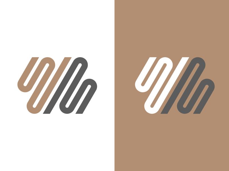 Fluid WM lettermark logo mark energy dynamic fluid logo wm
