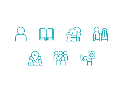 7 principles of climate change communication icons
