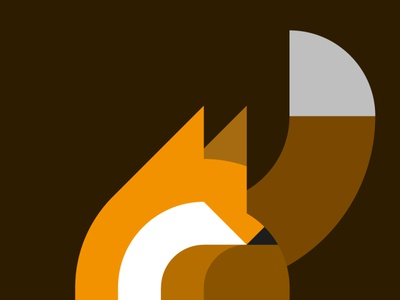 Geo fox illustration geometric fox