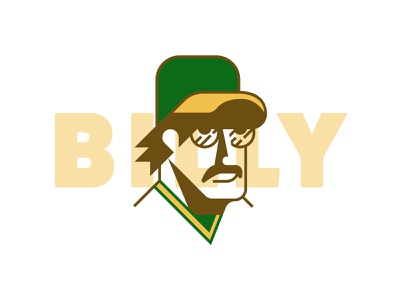 Billy oakland billy ball portrait baseball oakland athletics billy martin