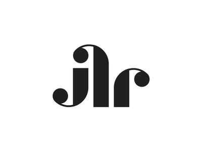JLR logo development construction monogram lettermark logo jlr