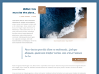 Daily UI #035 - Blog Post