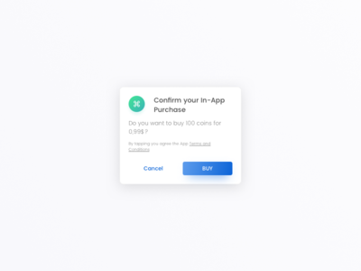 Daily UI #054 - Confirmation alert modal ios popup purchase in-app hint confirmation ux ui daily dailyui