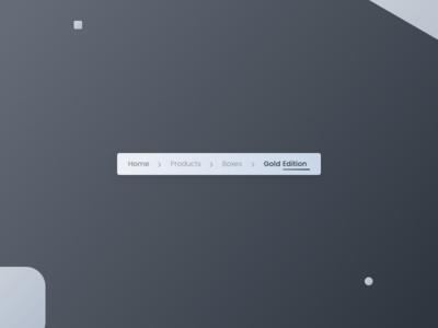 Daily UI #056 - Breadcrumbs