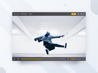 Daily UI #057 - Video Player