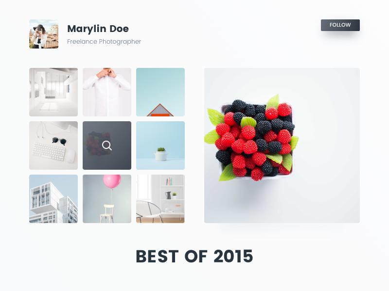 Daily UI #063 - Best of 2015 portfolio minimal clean photographer grid pic 2015 best ux ui daily dailyui