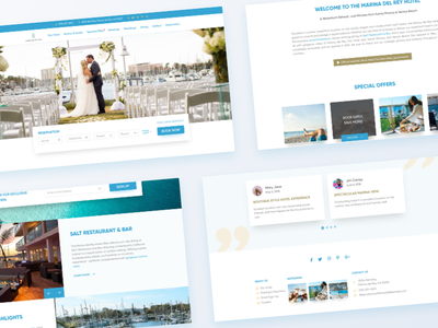 Hotel Website Redesign inspiration ux ui free concept minimal clean marine template redesign booking hotel