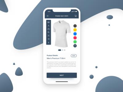 Daily UI #090 - Create new dailyui daily ui ux ui concept composer minimal customize e-commerce t-shirt new create