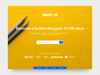 Daily UI 100 -  🎉 💯 🎉- Redesign Daily UI Landing Page