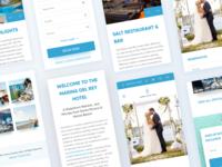 Responsive Hotel Website Redesign webdesign freebie free dailyui ui booking landing usa shadow blur clean redesign website hotel