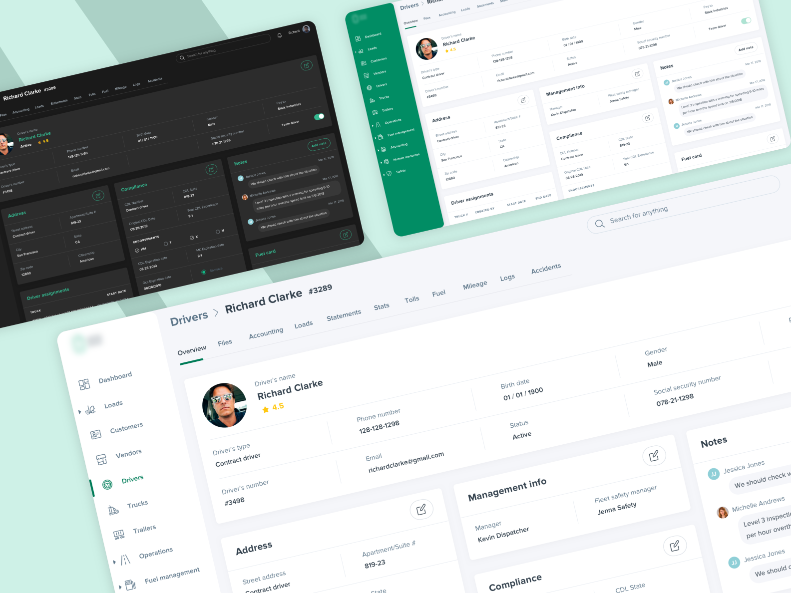 Logistics management platform SaaS