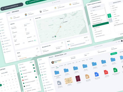Logistics SaaS - Elements ux clean white green trucks trucking logistics transportation transport elements components files dashboard web app saas