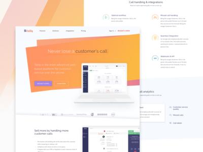 Call centre saas website uidesign ui experience user ux web software design clean website debut saas