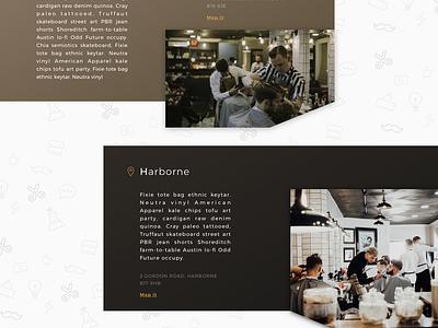 Barbershop website design ui dark white black website barbershop barber