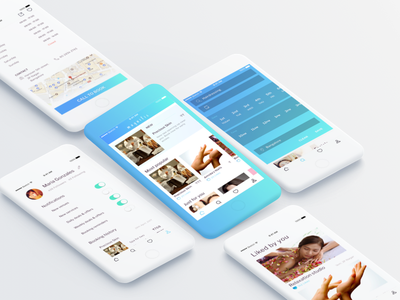 Beauty salon discovery app 2 white ux teal salong mobile indian discovery blue salon beauty app