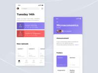 University learning app concept