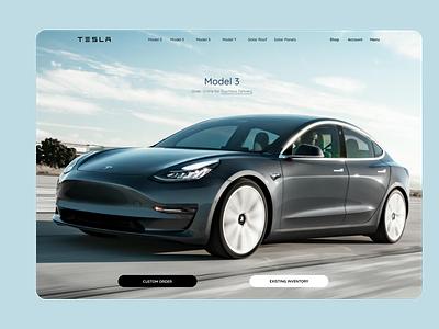 Tesla landing page Redesign typography ux ui