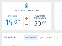Dashboard for energy supplier
