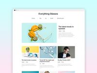 Blog Design Concept - dailyui #003