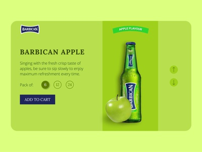 Barbican Apple - Product Page professional food branding images minimal modern clean figma ui design green apple green drink barbican product page