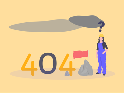 Weekly Warm-Up | Custom 404 Illustration ux modern not found website graphic design colourful error 404 clean design professional images vector ui minimal illustration