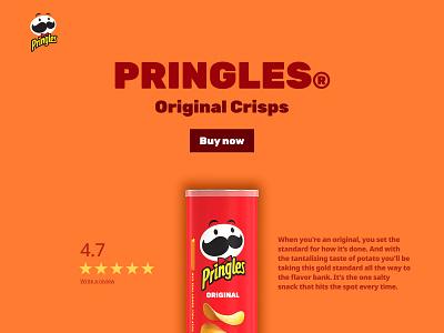 Pringles® Original Crisps | Redesign figma illustration food ecommerce mockup landing page web design website design typography bold colourful orange branding minimal ui professional design clean pringles