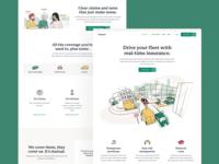 Rideshur – Landing pages green colour illustrations landing page agency landing page illustration agency branding agency london tech app saas web design web together ux ui homepage clean
