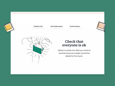 Rideshur – How it works landing page london agency rideshur green flow illustrations animation tech app saas web design ui web together ux homepage clean